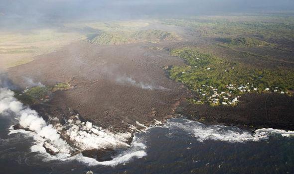 AFTER: Kapoho Bay after the lava
