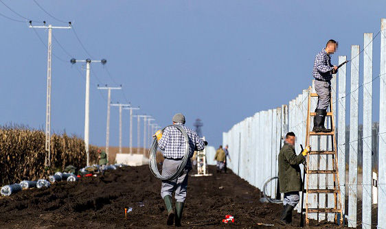 Hungary border wall