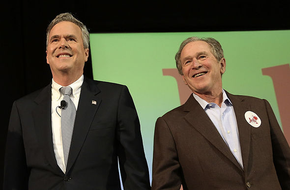 Jeb Bush with his brother George W Bush