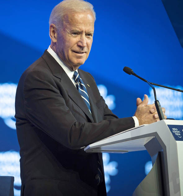 Outgoing Vice President Joe Biden