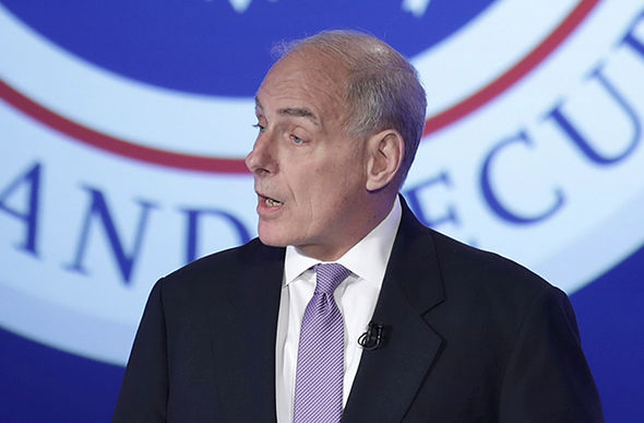 John Kelly speaking at George University