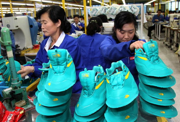 North Korean workers made goods such as trainers which were sold in the South