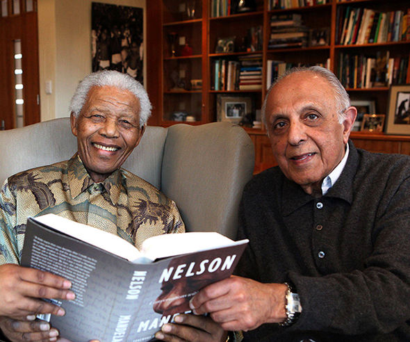 Kathrada and Mandela were imprisoned together for campaigning against the apartheid