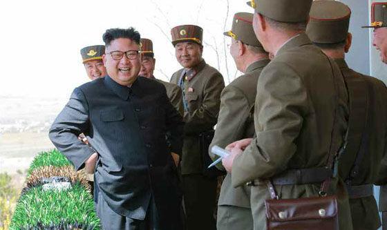 Kim Jong-un at a military contest