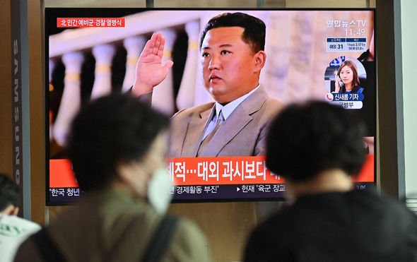 Kim Jong-un on TV