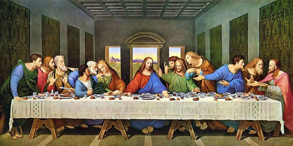 The Last Supper as envisaged by Leonardo Da Vinci