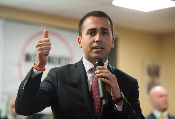 Lower house deputy Luigi Di Maio says Italians must decide about the euro