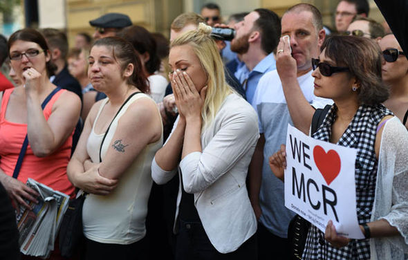 People in tributes to Manchester bombing victims