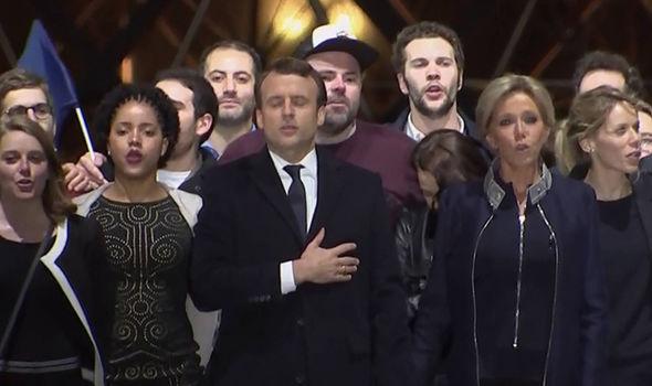 Macron and wife