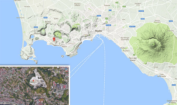 Maps of southern Italian volcanos