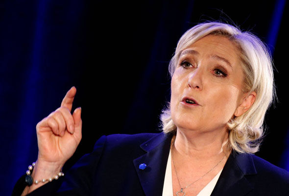 Opinion polls suggest Ms Le Pen is likely to top the first round of the presidential poll