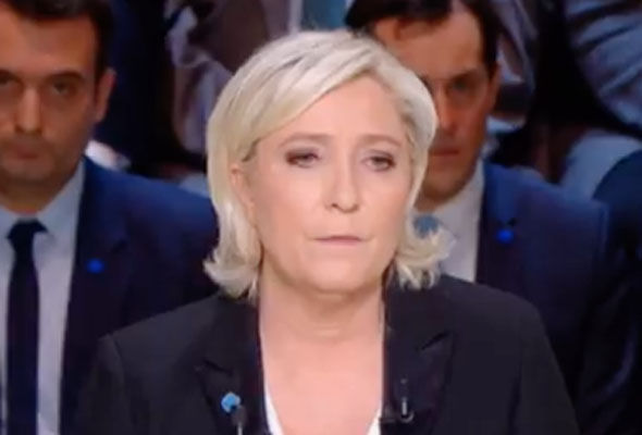 The leader of the Front National declared she will protect France's borders