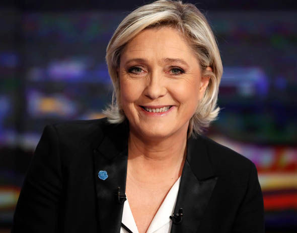 Marine Le Pen during a TV interview