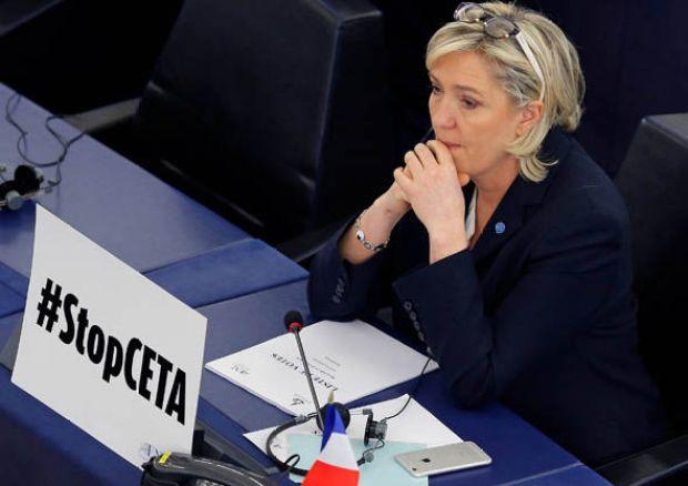 Front National leader Marine Le Pen in Strasbourg