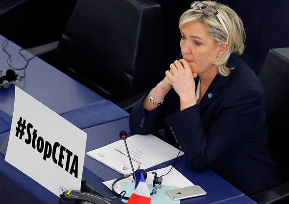 Front National leader Marine Le Pen in Strasbourg