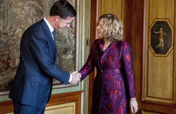 Mark Rutte and Edith Schippers