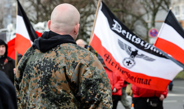 Members of a Neo-Nazi group