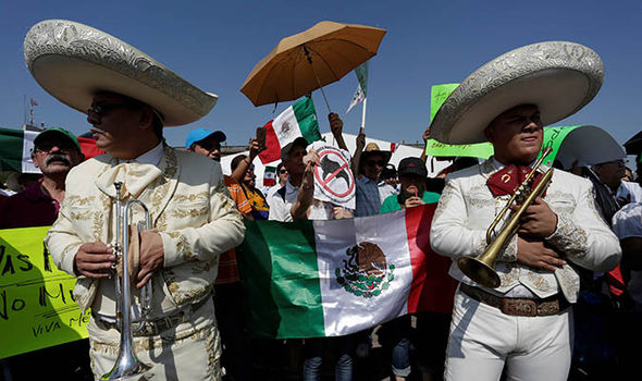 Mexico band at protest
