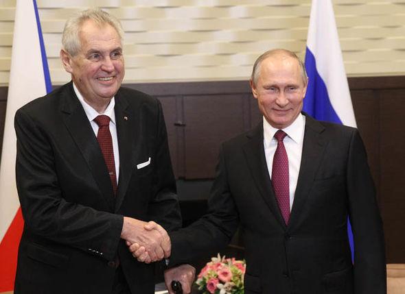 Miloš Zeman and Vladimir Putin