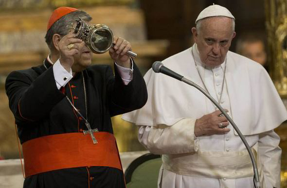 Pope Francis with Cardinal Crescenzo Sepe