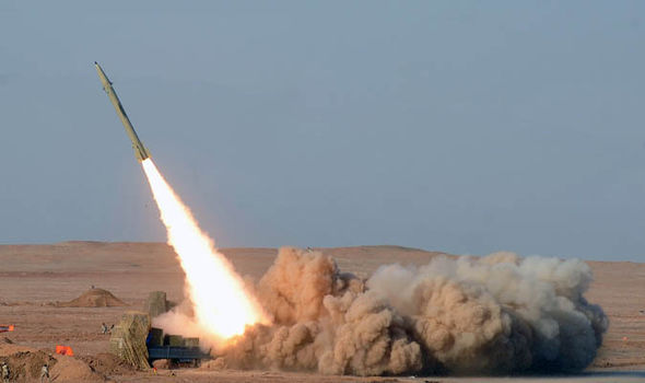 Missile being launched in iran