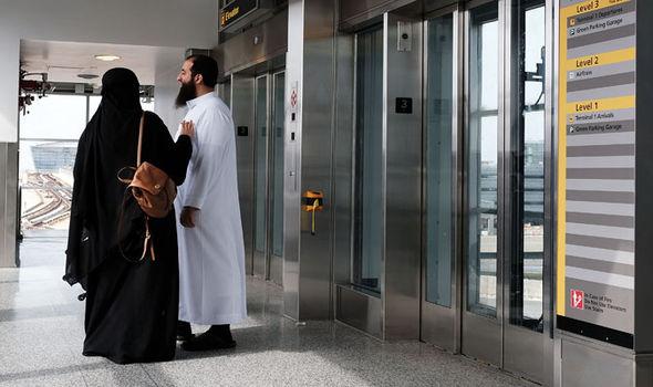 Muslims at US airports