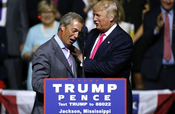 Nigel Farage was a huge supporter of Trump's campaign
