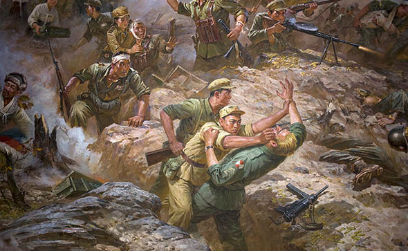 Painting of the North Korean War