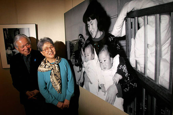 The parents of the abducted Megumi Yokota