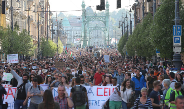 Orban protests