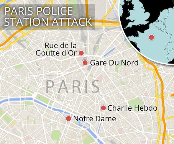 A map of Paris