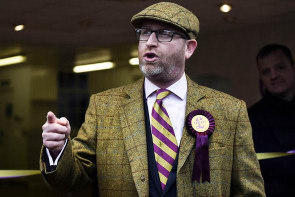 Paul Nuttall in a flat cap