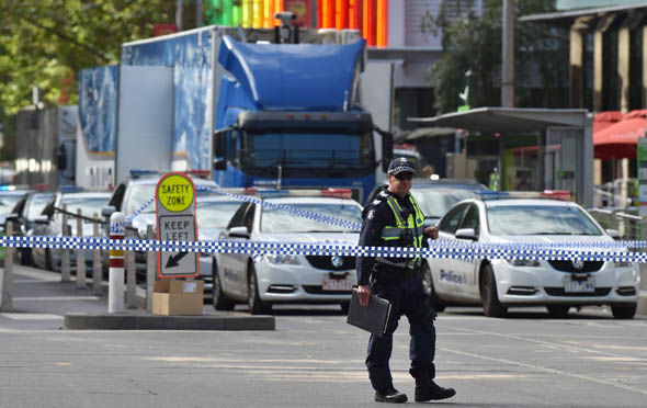 Victoria police sealed off the area