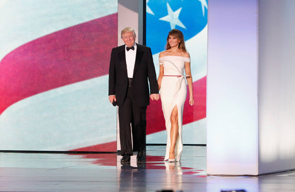President Donald Trump and first lady Melania arrive at Freedom Inaugural Ball