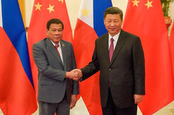 President Rodrigo Duterte and Xi Jinping
