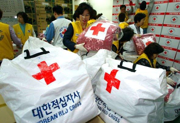 Red Cross staff evacuate Pyongyang
