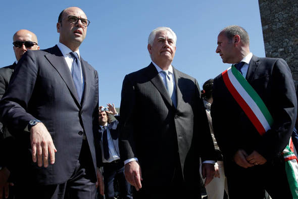 Rex Tillerson in Italy