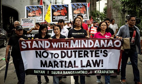 Rodrigo Duterte protest