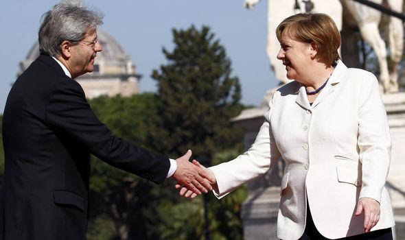 Angela Merkel meets Prime Minister Paolo Gentiloni