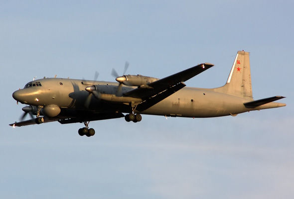 IL-38 maritime patrol aircraft were spotted off the Alaskan coast