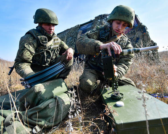 Russia's army in action
