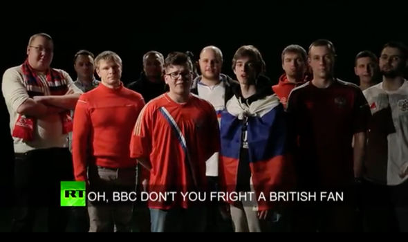 Russian football fans swipe at BBC and welcome UK ...