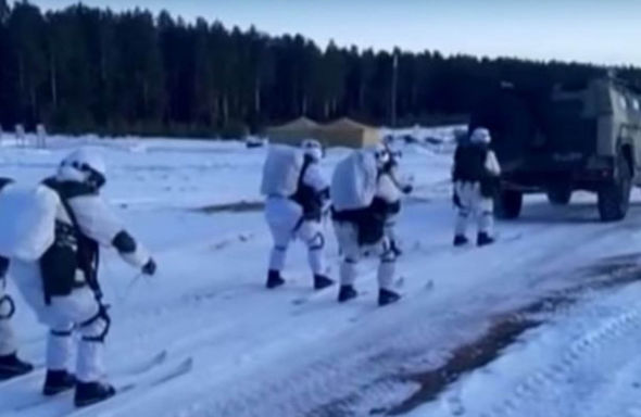 Russia's skiing soldiers