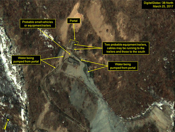 Satellite images of North Korea nuclear site