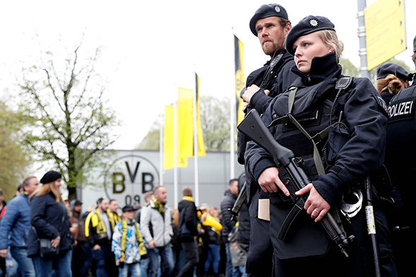 Police presence ahead of the Dortmund home game