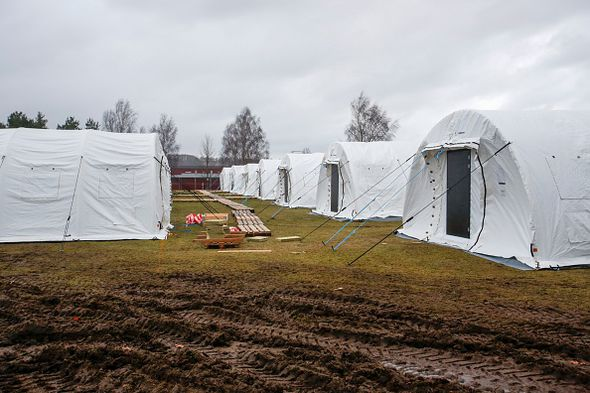 Sweden has built refugee camps to accommodate those who fled there
