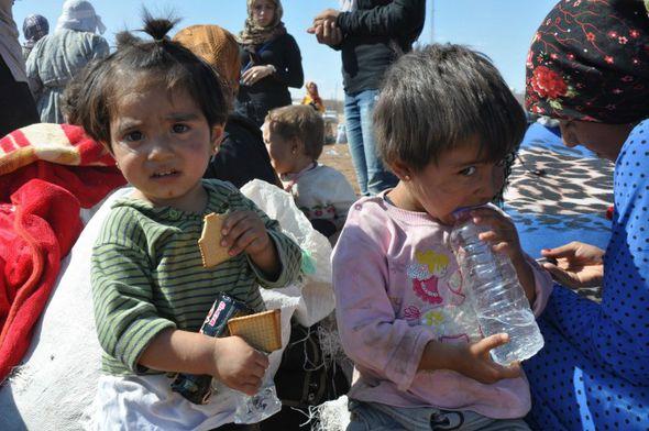 Refugee children in Syria