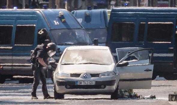 Paris terror: Man arrested by police after car ram