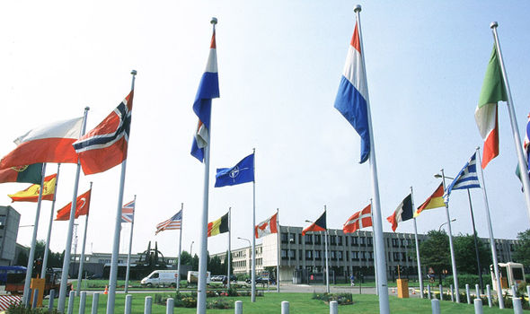 The NATO headquarters in Brussels
