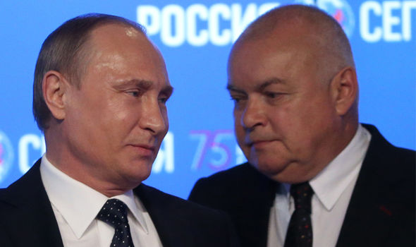 The claims were made by Dmitry Kiselyov, a key ally of Putin in the Russian media
